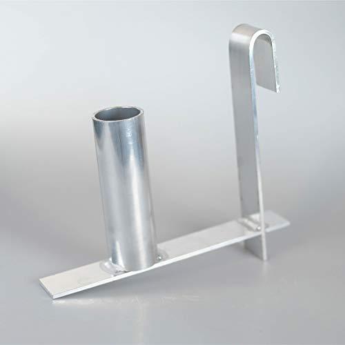 DAWIDU Sichtschutzstreifen Abroller Montagehilfe - Stabile & praktische Abrollhilfe für das Bequeme Montieren von PVC Sichtschutzstreifen