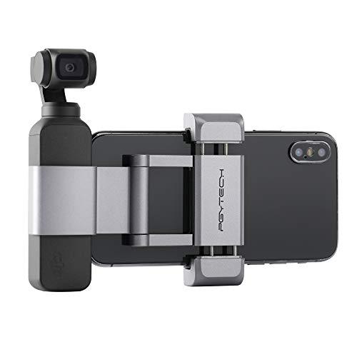 Hensych PGYTECH para Soporte de teléfono Osmo Pocket +, Soporte de teléfono Plegable de Aluminio más Juego de Soporte para dji Osmo Pocket, para teléfono móvil (Ancho ≤ 90 mm)