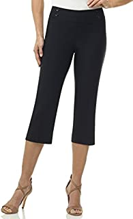 Rekucci Women's Ease in to Comfort Fit Capri with Button Detail