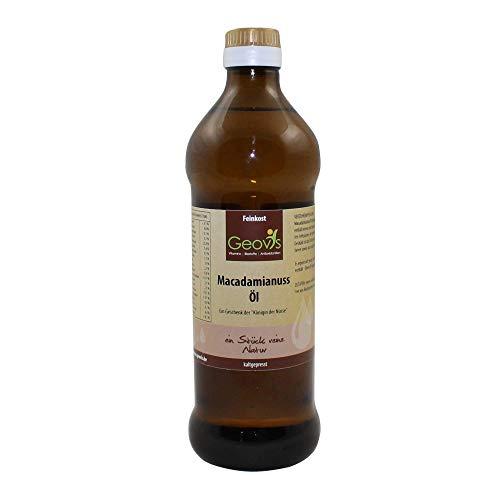 Geovis - Aceite de nueces de macadamia, natural, prensado en frío, la reina de las nueces, ideal para hornear, asar y cocinar, vegano, para una cocina sana
