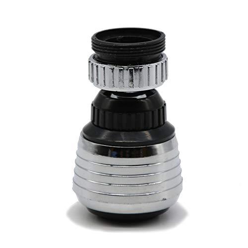 PIDSNI Toque Extender 1pc 360 rotación Giratorio Grifo Boquilla torneira Filtro de Agua Adaptador purificador de Agua Ahorro de Grifo Aeroador Diffuserfaucet Aireador (Color : Silver)