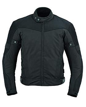Texpeed - Veste de moto pour homme - légère/imperméable - avec renforts - noir