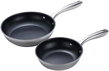 2-Piece Stainless Steel Nonstick Fry Pan/Saute Pan Cookware Set