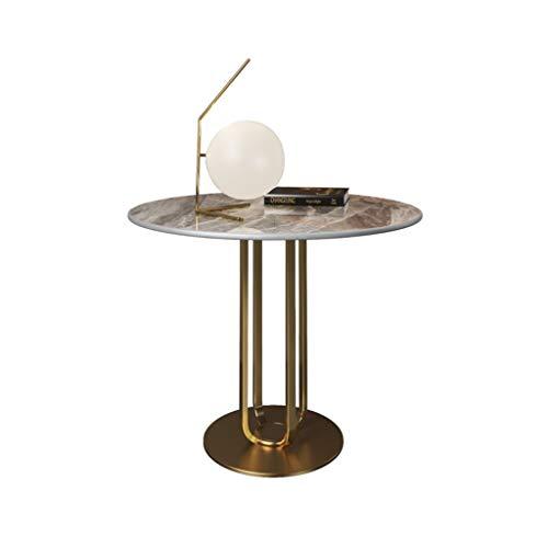 Mesa de Centro Mesa lateral de mesa de roca nórdica Sofá Gabinete lateral Pequeña mesa de café Luz de lujo Lujo Sala de estar moderna Mesa de mármol Mesa de esquina Mesitas de salón para el café