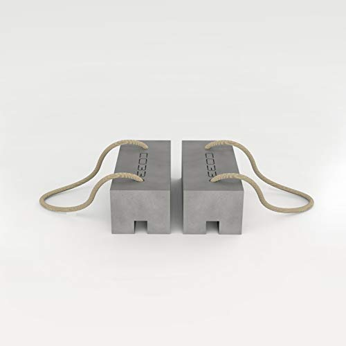 CO33 Wäscheständerhalter aus Beton - Gewicht für Wäscheständer KlotzCO 2er Set (2)