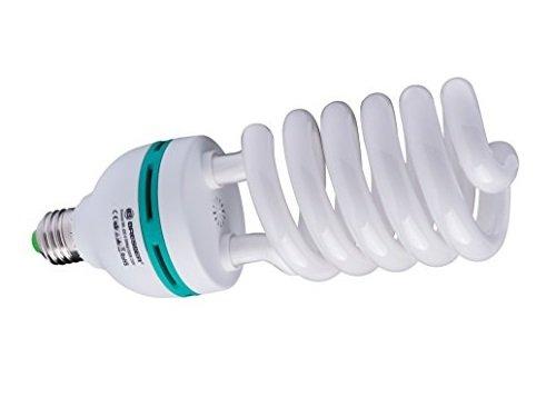 Bresser Fotostudio Spiral Tageslichtlampe (E27/85Watt) Farbtemperatur 5300-5500 Kelvin