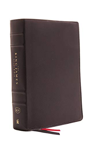 KJV, The King James Study Bible, Genuine Leather, Black, Red Letter, Full-Color Edition: Holy Bible, King James Version