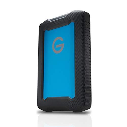G-Technology ArmorATD All-Terrain Festplatte 2 TB mobiler Speicher (USB-C™-fähig, 140 MB/s, für Mac und Windows®, wasser- und staubfest) Schwarz/Blau