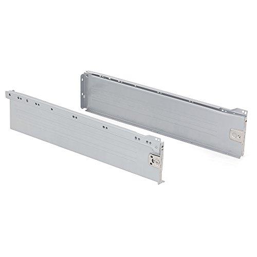 Emuca 3058925 Kits de Cajón H150, Gris Metalizado, 500mm