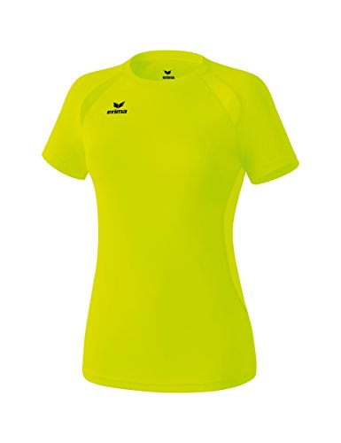 Erima T- Shirt Performance Femme, Jaune Fluo, FR : S/M (Taille Fabricant : 40)