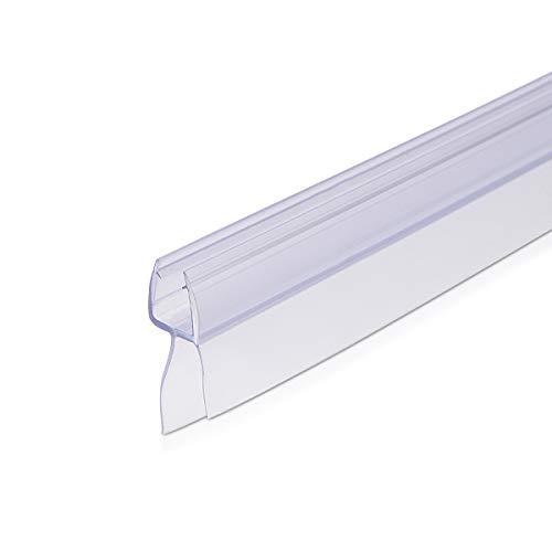 Navaris junta de recambio para ducha - Repuesto para puerta de cristal con grosor de 6MM - Sello protector contra salpicaduras 45° 100CM de largo