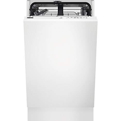 Zanussi ZSLN1211 Fully Integrated Slimline Dishwasher - Black Control Panel with Sliding Door Fixing Kit