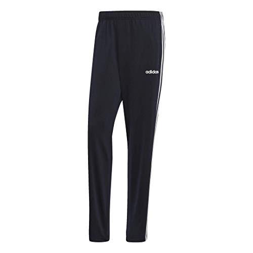 adidas Men's Essentials 3-Stripes Regular Tricot Pants, Ink/White, Large