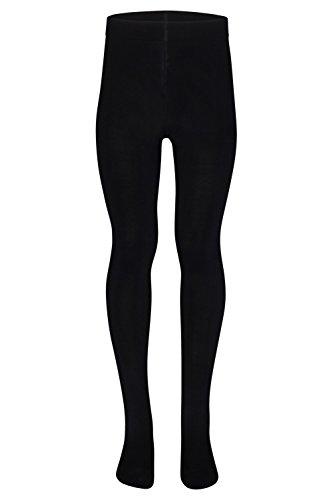 tanzmuster ® Ballettstrumpfhose Mädchen - Lena - kein Kratzen und Rutschen, äußerst strapazierfähig (Keine Laufmaschen), Strumpfhose fürs Kinder Ballett in schwarz, Größe 116-128