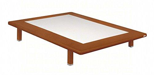 Base tapizada Polipiel cerezo 150x190 cm