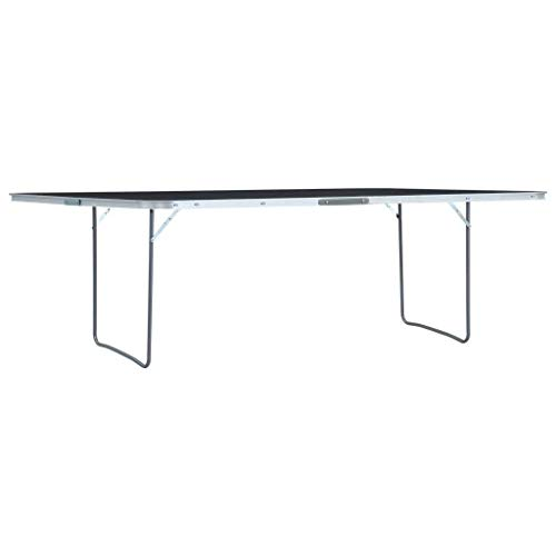 vidaXL Tavolo da campeggio pieghevole Grigio Alluminio 240 x 60 cm