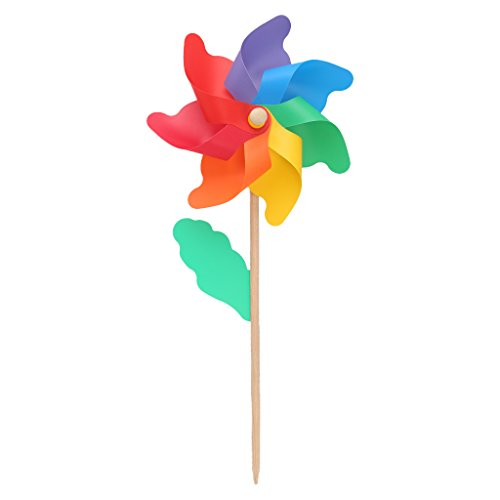 Cold Toy 24cm in legno da giardino cortile Party mulino a vento Girandola a Vento ornamento decorazione giocattoli per bambini