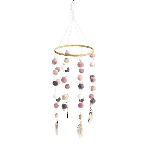 Hairball Wind Chime Bed Bell Pom-Pom Dreamcatcher Enfants Filles Bébé Chambre Décor Boutique Nordique Décoration De La Maison, A