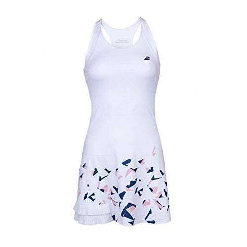 Babolat Compete Dress Women Vestido, Mujer, White/Estate...