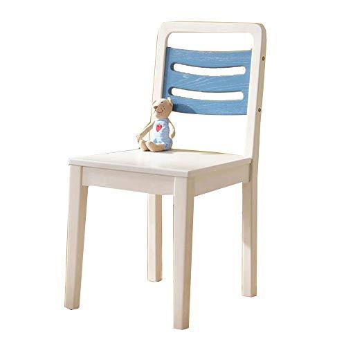 YUMEIGE Kruk voor kind massief hout, doorschijnende verf, kinderstoel voor woonkamer, slaapkamer, kleuterschool, houten kruk belasting 70kg,zitbank houten stoel