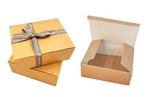 Pack de 10 x cajas de regalo automontables (código C) caja de regalo cartulina para bombones, joyería, pequeños regalos