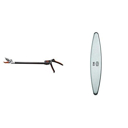 Garten Primus Rosenschere, RosenKavalier klein, schwarz, 63 x 9 x 3,1 cm, 01415 & Felco 154261 903 Schleifstein, für Messer der Gartenscheren geeignet-903, grau Länge 100mm