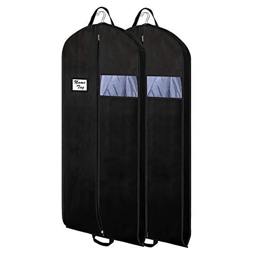 Atmungsaktive Anzugtasche Lagerung und Reise,2 x Reisetasche Kleidersack | 137 x 60 cm | Optimierte Materialstärke von 120 GSM | Hochwertige Kleiderhülle für Anzug und Kleid