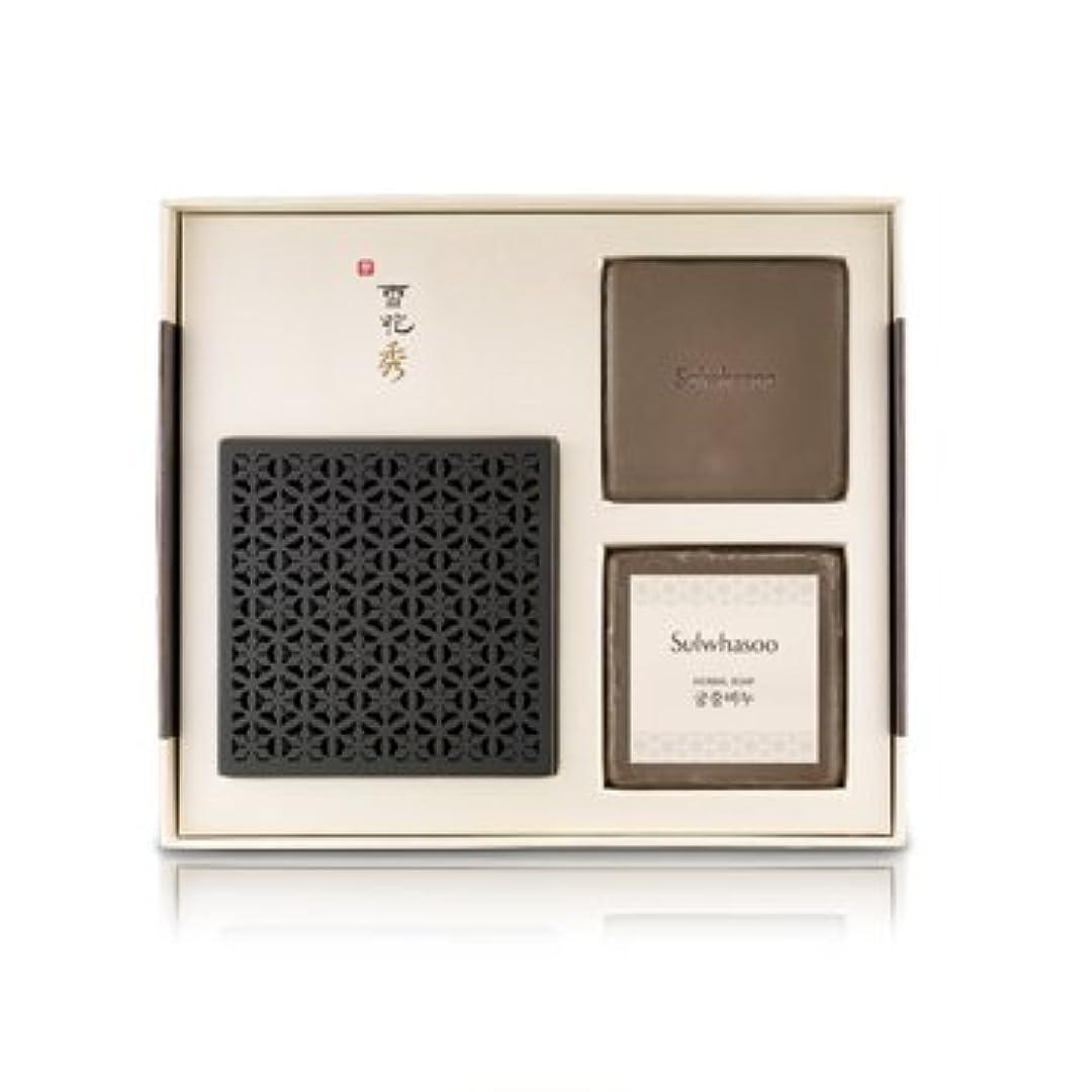 百万読む表向き雪花秀(ソルファス)韓方クレンジング石鹸[宮中石鹸(Herbal soap)]100g×2