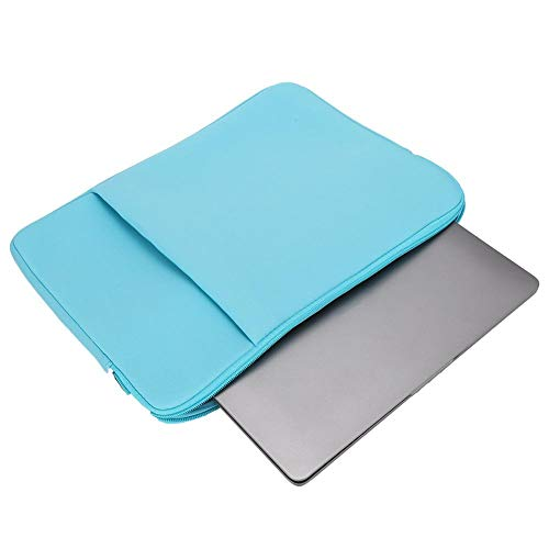 Nunafey usiness Notebook Computer Bag Cloth Computer Bag, 15.6inch Computer Bag, Notebook Tablet Book Magazine Business Trip for File Carrying for Laptop(Light blue)