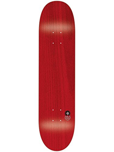 Prohibition Blank Deck - Tabla de Skateboard, Color Rojo, Talla 7,825