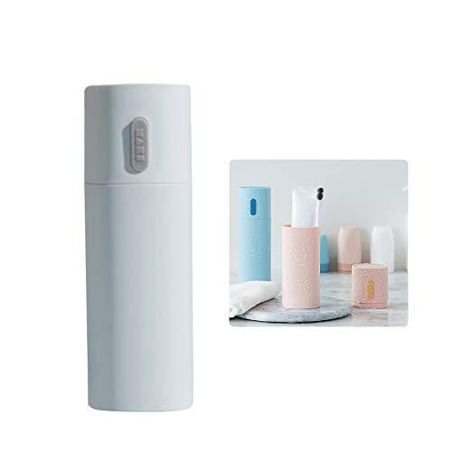 whatUneed Reise-Zahnbürstenbecher, tragbarer Mundspülbecher, Zahnpasta-Halter, Camping-Zahnbürstenetui aus Kunststoff weiß