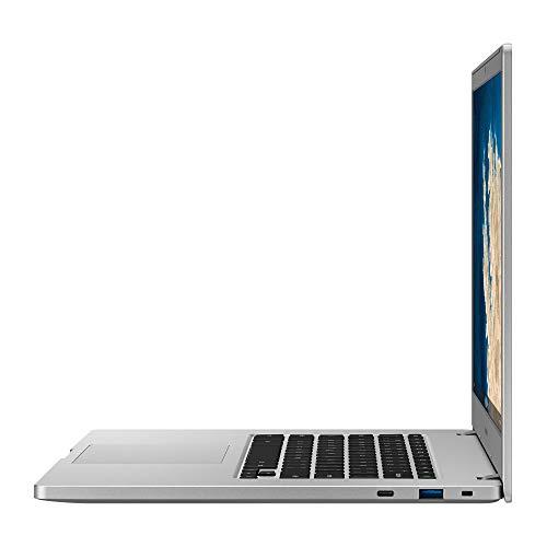 "Samsung Chromebook 4+, Computer Portatile XE350XBAI Chrome OS, Processore Celeron N4000, RAM 4 GB LPDDR4, 64 GB, Display 15.6"" Full HD LED, UHD Graphics 600, USB-C, Platinum Titan"