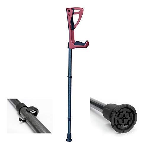 (1 Unidad) Muletas ergonómicas para el antebrazo - Amortiguadores ergonómicos Plegables Ajustables para Adultos Plataformas de Apoyo para Las Rodillas Antideslizantes Bastón para c