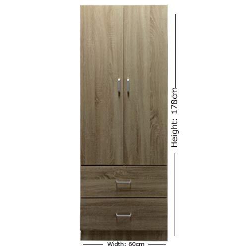 Lyon - Armario 2 puertas 2 cajones 60 cm