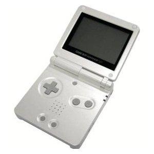 Game Boy Advance SP Pearl White
