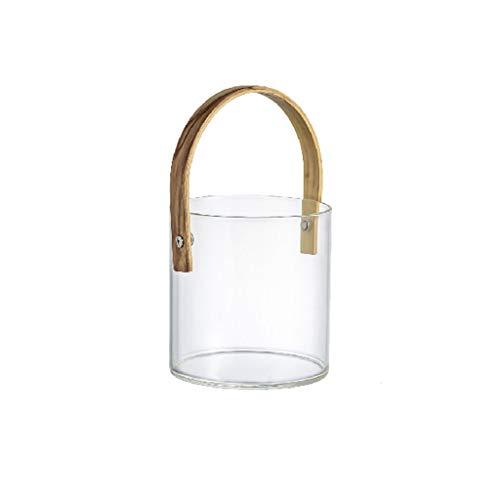 Cubitera Cubo de Hielo Cubo de Almacenamiento Cubo de Vidrio Cubo de Hielo Transparente Cubo de Cerveza de Champagne Apto para Fiestas de Banquetes de Barra Familiar Cubitera Hielo (Size : A)