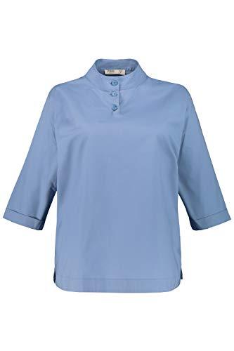 Ulla Popken Damen große Größen Bluse kornblumenblau 46+ 751256 73-46+