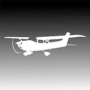 TDT Printing & Custom Decals Airplane Vinyl Decal Sticker for Car or Truck Windows Laptops etc.