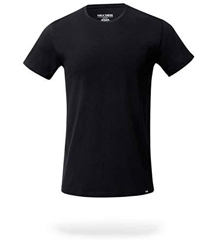 Pair of Thieves Men's Crew Neck T-Shirt, Black, Large