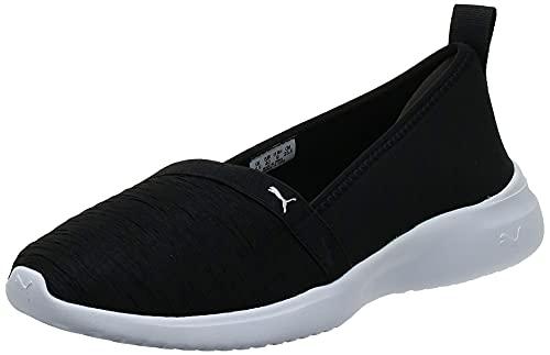 PUMA Damen Adelina Sneaker, Black Silver, 39 EU