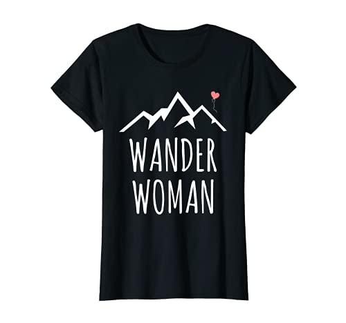 Bergsteiger Wander Woman Wanderer Wandern Geschenk Berge T-Shirt