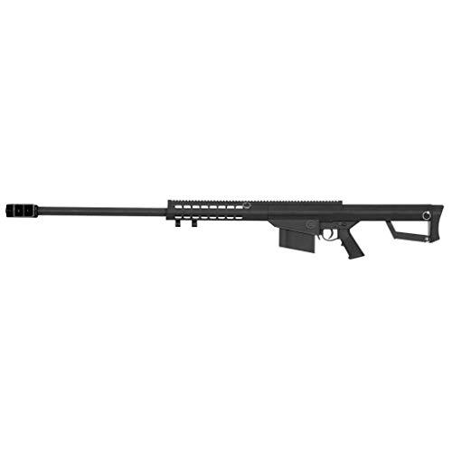 Lancer Tactical Fucile Airsoft Sniper LT20-M82 / plastica ad Alta Resistenza e Metallo/Colore Nero/armamento Manuale (0,5 Joule)
