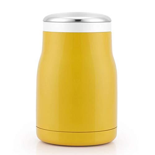 Thermobehälter für essen Edelstahl Thermos-Essenbehälter Container Baby-Suppe Speisen Und Getränke Vakuumnahrungsmittelbehälter For Keep Warm Oder Kalt thermobehälter für essen ( Color : Yellow )