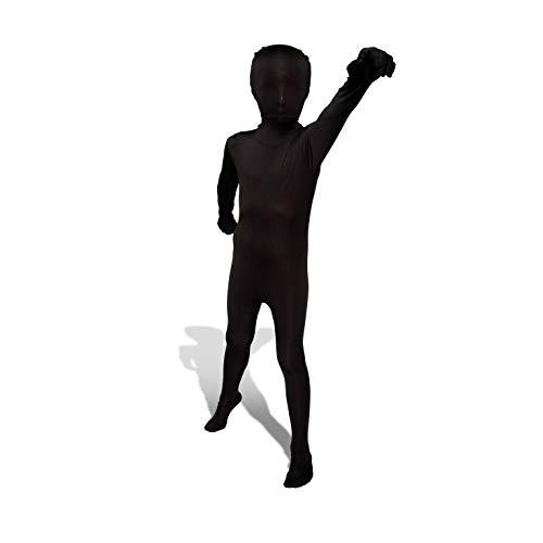 Morphsuits - CS96012/M - Seconde peau morphsuit enfant noire taille m