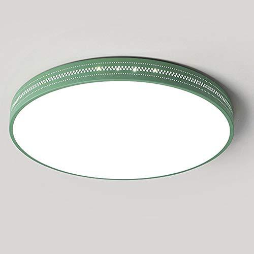 Soffitto del LED luce verde creativa moderna industriale Windeisen acrilico plafoniera rotonda luce di colore Tre (caldo bianco freddo bianco neutro) di potenza a pulsante 20W Usato per