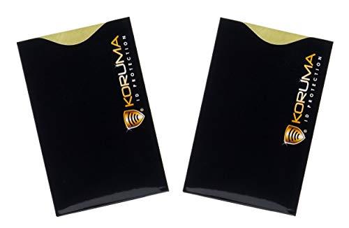 Koruma-ID-protection KUK-70BLG - Porta carte di credito/debito con sistema che blocca i segnali RFID/NFC, confezione da 2
