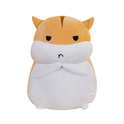 Evangelia.YM Super Soft Plush Toy Throw Pillows - Cute Fat Hamster Multi Expression Doll Soft PP Cotton Stuffed Sleeping Pillow Great Gift for Your Lovely Girlfriends or Kids (C)
