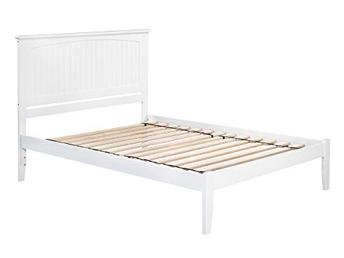 Atlantic Furniture Nantucket Platform Bed with Open Foot Board Queen White