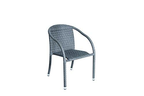 acamp Wien Stapelsessel grau meliert Gartenmöbel, 55x60x80 cm