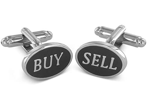 TEROON boutons de manchette slogan Wall Street 'Buy & Sell'